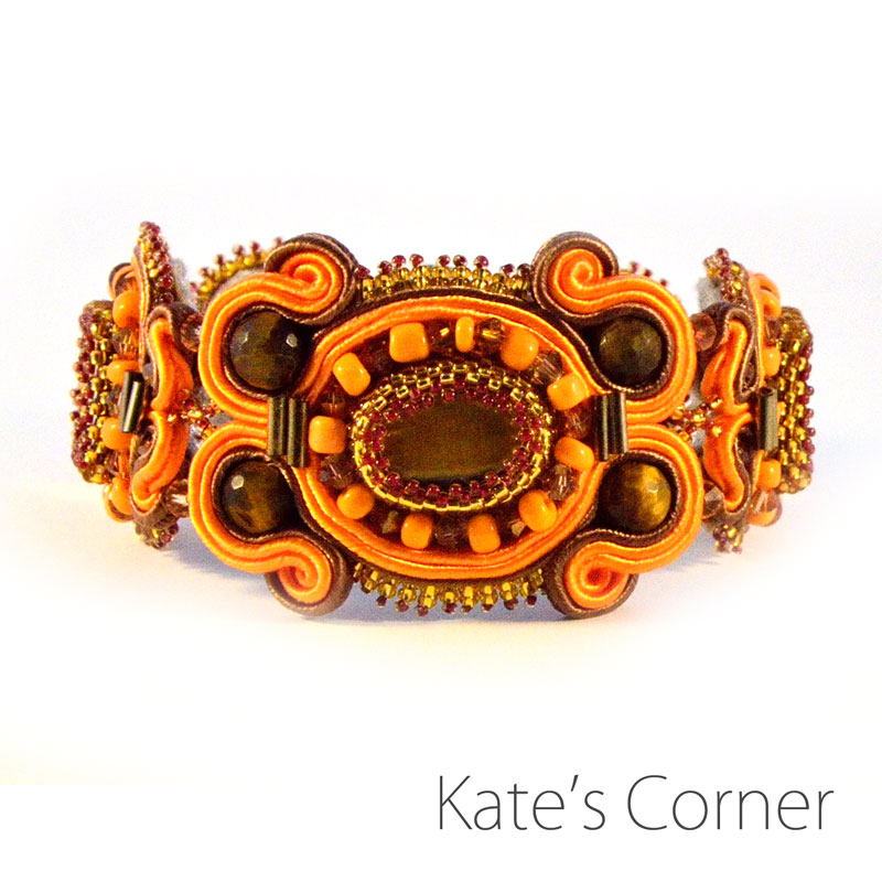 Orange and brown bracelet