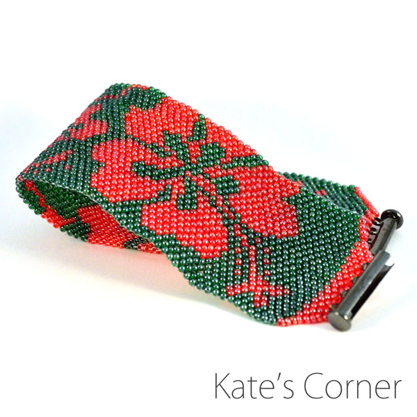 Green and red brancelet