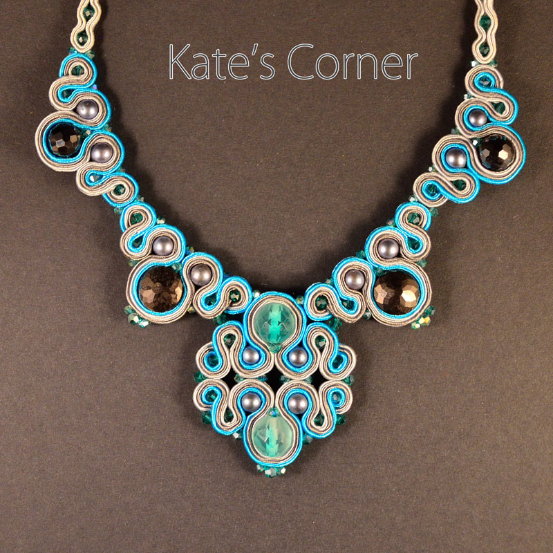 Turquoise-grey necklace