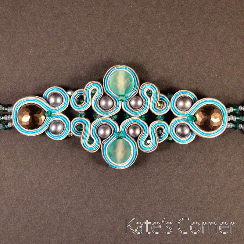 Turquoise-grey bracelet