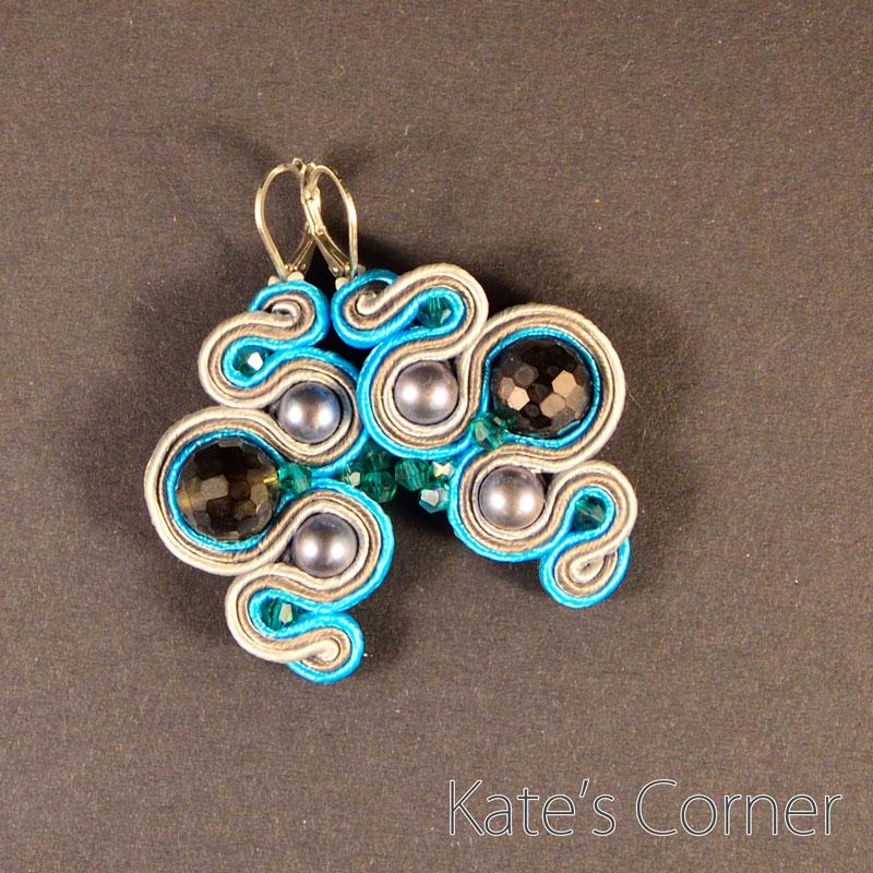 Turquoise-grey earrings