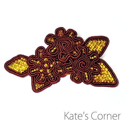 Brown Flowers – brooch