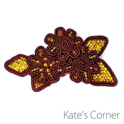 Brown Flowers – brooch