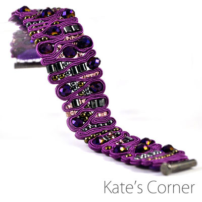 Purple Bracelet — soutache