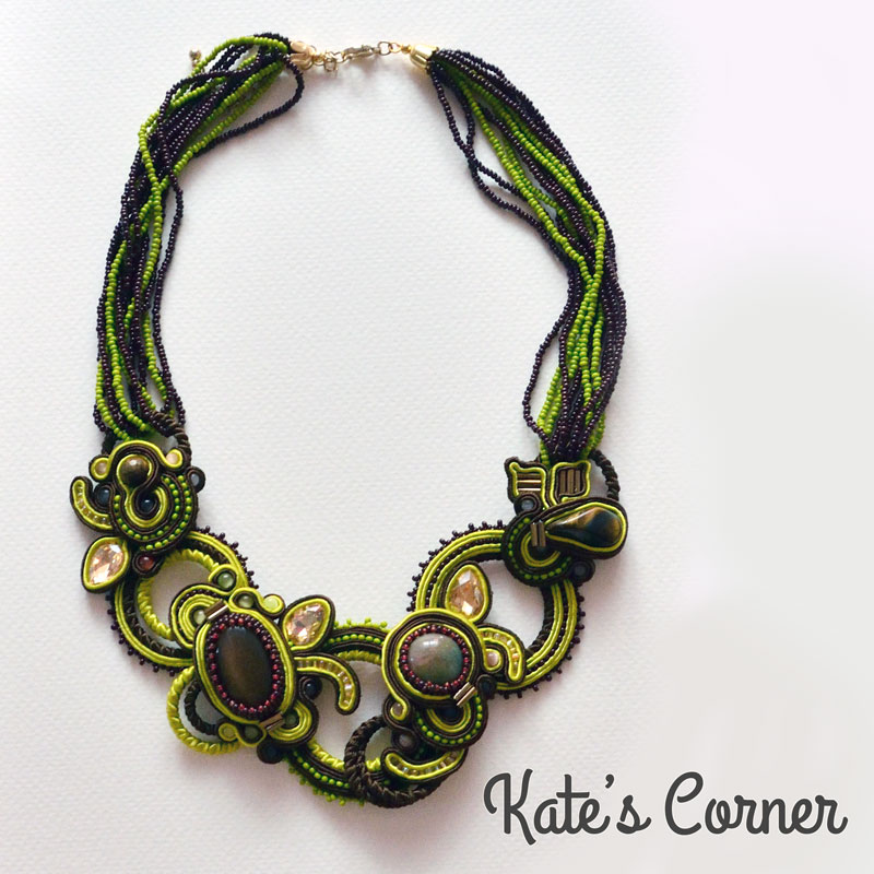 Green and brown necklace