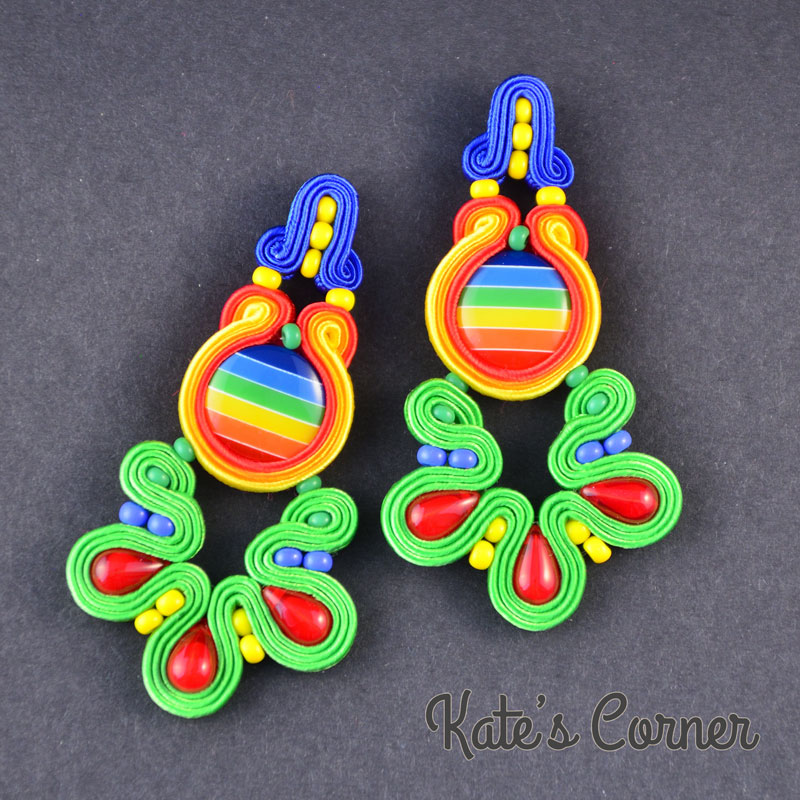 Long rainbow earrings