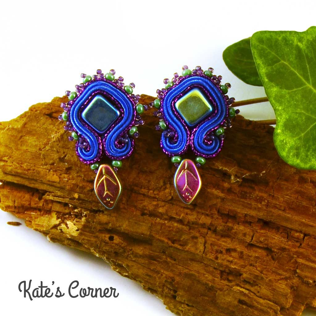 Blue-purple earrings