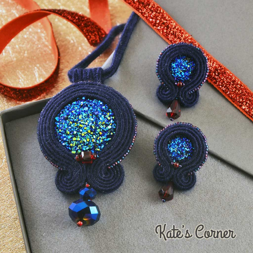Navy soutache set